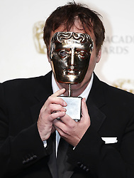 Quentin Tarantino, winner of the Best Original Screenplay award for Django Unchaineds Award in the press room of the BAFTA British Academy Film Awards 2013 at the Royal Opera House in London, Britain, Sunday February 10, 2013. Photo by Imago / i-Images. UK ONLY..