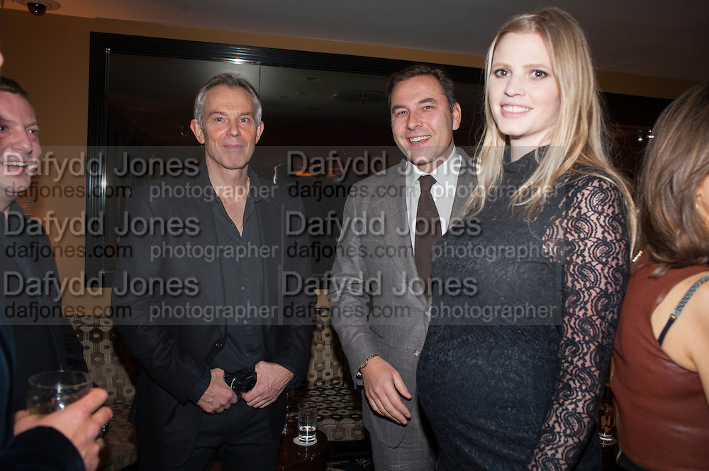 matthew freud; TONY BLAIR; DAVID WALLIAMS; LARA STONE, Chinese New Year dinner given by Sir David Tang. China Tang. Park Lane. London. 4 February 2013.