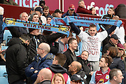 Villa fans protest against Randy Lerner during the Barclays Premier League match between Aston Villa and Bournemouth at Villa Park, Birmingham, England on 9 April 2016. Photo by Jon Hobley.