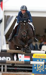 Van Der Straten Cindy (BEL) - Easy Going 17<br /> Belgisch Kampioenschap Jumping - Lanaken 2011<br /> © Dirk Caremans