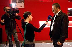 Tone Krump po okrogli mizi o izzivih slovenske kosarke na podrocju dela z mladimi, ki bodo v nekaj letih zastopali tudi barve slovenske vrhunske kosarke  v organizaciji drustva SportForum Slovenija, 4.  oktober 2010, Dvorana Mercurius, BTC, Ljubljana, Slovenija. (Photo by Vid Ponikvar / Sportida)