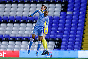 AFC Wimbledon defender Ryan Delaney (21), on loan from Rochdale,  during the EFL Sky Bet League 1 match between Coventry City and AFC Wimbledon at the Trillion Trophy Stadium, Birmingham, England on 17 September 2019.