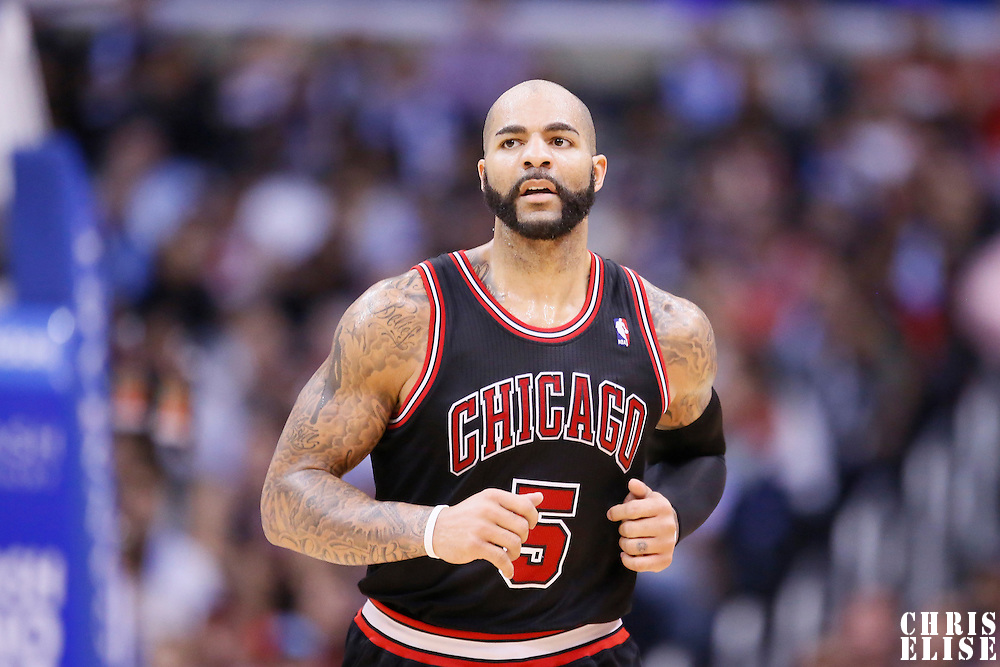 24 November 2013: Chicago Bulls power forward Carlos Boozer (5) is seen during the Los Angeles Clippers 121-82 victory over the Chicago Bulls at the Staples Center, Los Angeles, California, USA.