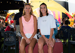 December 28, 2018 - Brisbane, AUSTRALIA - Kristina Mladenovic of France & Ajla Tomljanovic of Australia visit Brisbanes East Street Markets ahead of the 2019 Brisbane International WTA Premier tennis tournament (Credit Image: © AFP7 via ZUMA Wire)