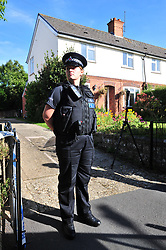 © Licensed to London News Pictures. 29/09/2018<br /> HADLOW, UK.<br /> Police outside number 24 Carpenters Lane.<br /> A murder investigation has been launched in Hadlow,Kent after the deaths of two women at Carpenters Lane. A 28 year old man has been arrested on suspicion of murder after three people suffered serious injuries. Police forensic officers are at the scene inside two properties 26 and 24 Carpenters Lane.<br /> Photo credit: Grant Falvey/LNP