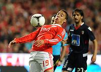 20120331: LISBON, PORTUGAL – Portuguese Liga Zon Sagres 2011/2012 - SL Benfica vs CS Braga.<br />In picture: Benfica's Rodrigo Moreno, from Spain, controls the ball.<br />PHOTO: Alvaro Isidoro/CITYFILES