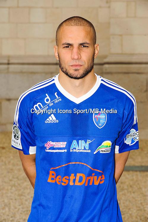 Lakdar BOUSSAHA - 26.09.2015 - Photo officielle Bourg en Bresse Peronnas - Ligue 2<br /> Photo : Jean Paul Thomas / Icon Sport