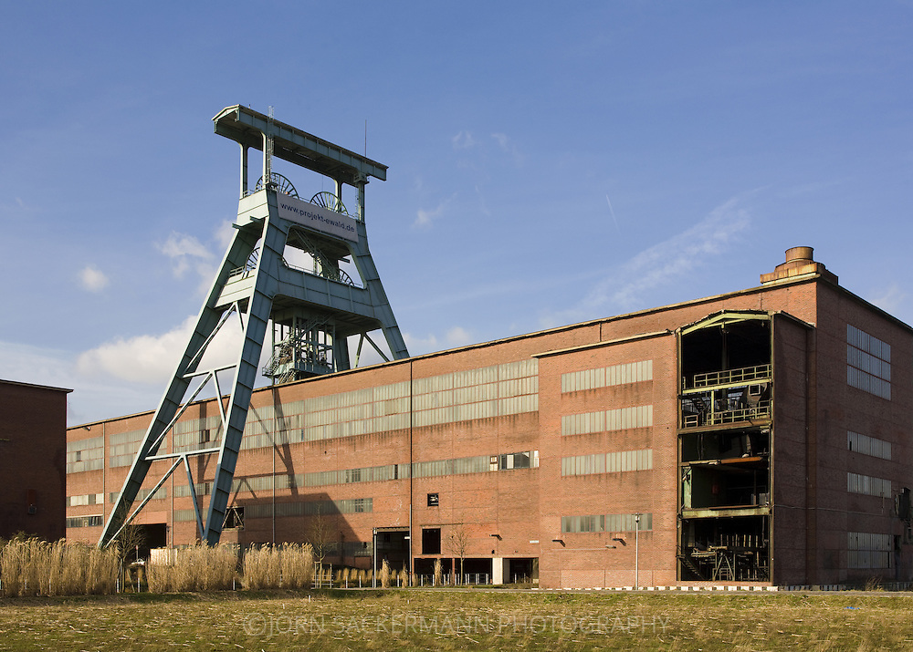 DEU, Germany, Northn Rhine-Westphalia, Ruhr area, Herten, former coal-mine Ewald.....DEU, Deutschland, Nordrhein-Westfalen, Ruhrgebiet, Herten, ehemalige Zeche Ewald...[For each usage of my images the General Terms and Conditions are mandatory.]