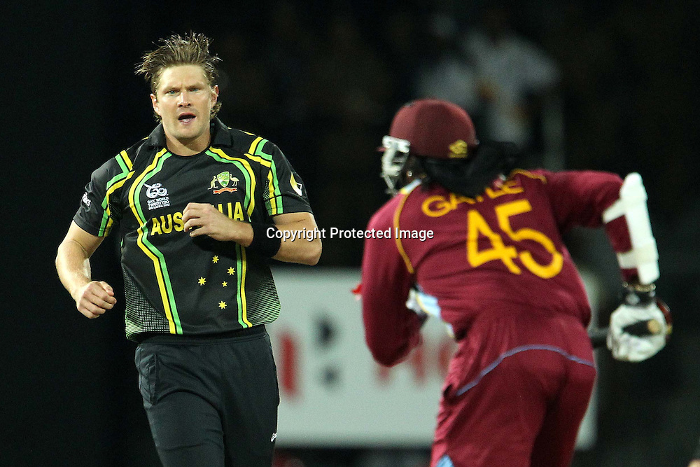 Shane Watson during the ICC World Twenty20 semi final match between Australia and The West Indies held at the Premadasa Stadium in Colombo, Sri Lanka on the 5th October 2012<br /> <br /> Photo by Ron Gaunt/SPORTZPICS