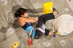 Yuka Kobayashi (JPN) during women final competition of IFSC Climbing World Cup Kranj 2014, on November 16, 2014 in Arena Zlato Polje, Kranj, Slovenia. (Photo By Grega Valancicr / Sportida.com)