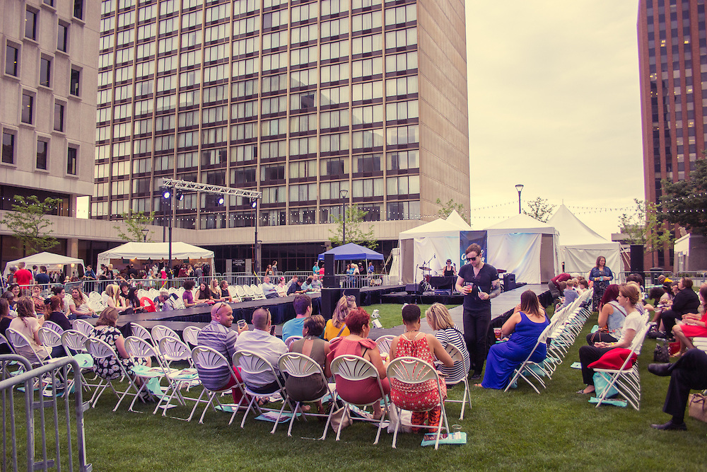 Cascade the Runway - Downtown Akron fashion show on Cascade Plaza