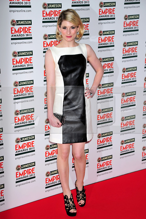 © Licensed to London News Pictures. 25/03/2012. London, England. Jodie Whitaker attends the  Jameson Empire Awards held at the Grosvenor Hotel London  Photo credit : ALAN ROXBOROUGH/LNP
