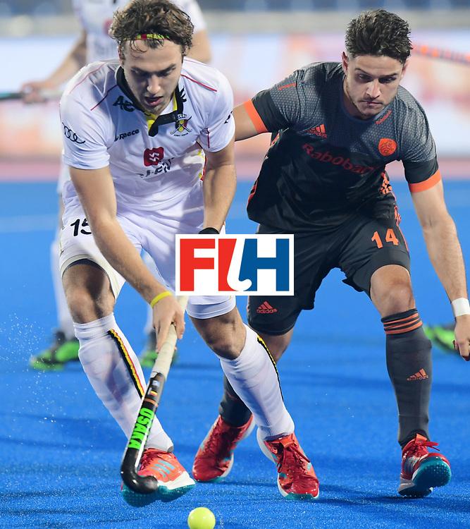 Odisha Men's Hockey World League Final Bhubaneswar 2017<br /> Match id:12<br /> Belgium v Netherlands<br /> Foto: Robbert Kemperman (Ned) in dual with Manu Stockbroekx (Bel) <br /> COPYRIGHT WORLDSPORTPICS FRANK UIJLENBROEK