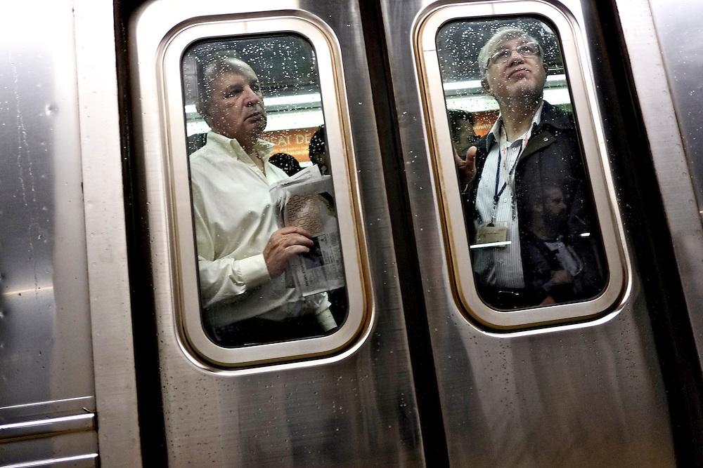 Rush hour, Subway. New York, NY