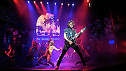 Rock of Ages<br /> by Chris D'Arienzo<br /> directed by Kristin Hanggi<br /> Choreography by Kelly Devine<br /> Press photocall<br /> 14th September 2011 <br /> at The Shaftesbury Theatre, London, Great Britain <br /> <br /> Oliver Tompsett (as Drew)<br /> <br /> Photograph by Elliott Franks
