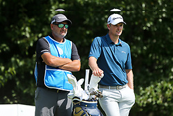 September 2, 2018 - Norton, Massachusetts, United States - Justin Rose (R) and his caddie Mark Fulcher wait on the 4th tee during the third round of the Dell Technologies Championship. (Credit Image: © Debby Wong/ZUMA Wire)