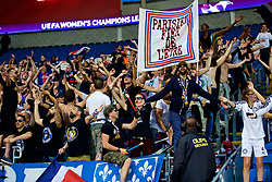 CARDIFF, WALES - Thursday, June 1, 2017: Supporters during the UEFA Women's Champions League Final between Olympique Lyonnais and Paris Saint-Germain FC at the Cardiff City Stadium. (Pic by David Rawcliffe/Propaganda)