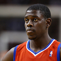 21 January 2012: Philadelphia Sixers point guard Jrue Holidays (11) rests during the Miami Heat 113-92 victory over the Philadelphia Sixers at the AmericanAirlines Arena, Miami, Florida, USA.