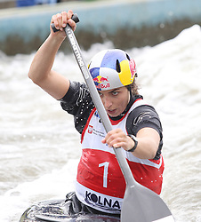 July 1, 2018 - Krakow, Poland - 2018 ICF Canoe Slalom World Cup 2 in Krakow. Day 2. On the picture: JESSICA FOX (Credit Image: © Damian Klamka via ZUMA Wire)