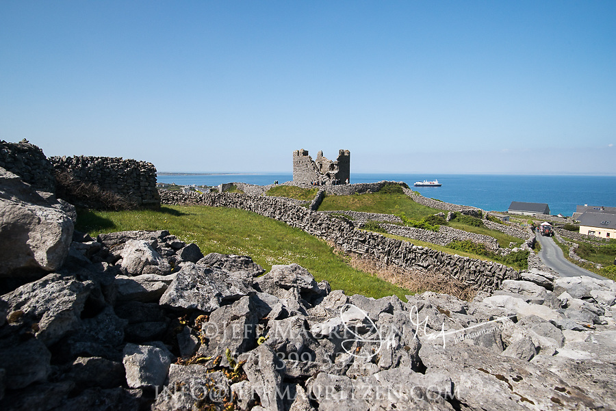 O'Brien's castle on Inis Oirr (Inisheer), one of the Aran Islands in County Galway, Ireland.