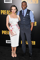 """(L-R) Julie Ann Emery and Malcolm Barrett together at AMC's """"Preacher"""" Season 2 Premiere Screening held at the Theater at the Ace Hotel in Los Angeles, CA on Tuesday, June 20, 2017.  (Photo By Sthanlee B. Mirador) *** Please Use Credit from Credit Field ***"""