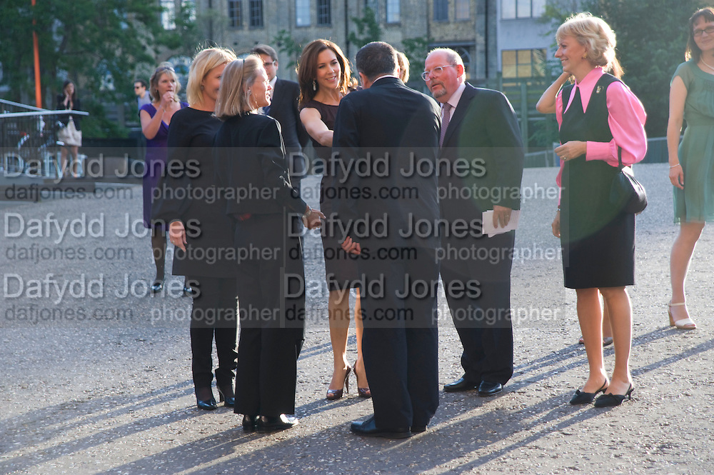 Crown Princess Mary of Denmark;  HE AMBASSADOR BIRGER RIIS-JORGENSEN GREETED BY SHEENA WAGSTAFF AND VICENTE TODOLI, Per Kirkeby Opening Reception and Dinner. Tate Modern. 16 June 2009.