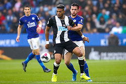 Joelinton of Newcastle United takes on Ben Chilwell of Leicester City - Mandatory by-line: Robbie Stephenson/JMP - 29/09/2019 - FOOTBALL - King Power Stadium - Leicester, England - Leicester City v Newcastle United - Premier League