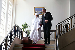 Algerian PM Abdelmalek Sellal escorts his Nigerien counterpart Brig Rafini at the government palace in Algiers, Algeria, October 27, 2016. Photo by Billal Bensalem/APP/ABACARESS.COM