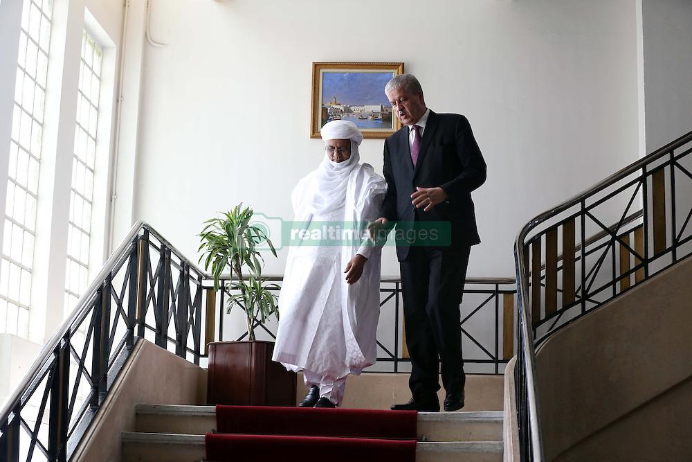 Algerian PM Abdelmalek Sellal escorts his Nigerien counterpart Brig Rafini at the government palace in Algiers, Algeria, October 27, 2016. Photo by Billal Bensalem/APP/ABACARESS.COM