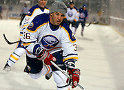 Matthew Barnaby of the Sabres alumni team competes during the Amerks vs. Sabres alumni game at Frontier Field in Rochester on Sunday, December 15, 2013.
