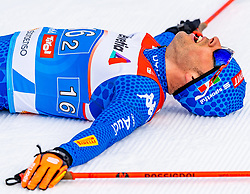 24.02.2019, Langlauf Arena, Seefeld, AUT, FIS Weltmeisterschaften Ski Nordisch, Seefeld 2019, Langlauf, Herren, Teambewerb, im Bild Federico Pellegrino (ITA) // Federico Pellegrino of Italy during the men's cross country team competition of FIS Nordic Ski World Championships 2019 at the Langlauf Arena in Seefeld, Austria on 2019/02/24. EXPA Pictures © 2019, PhotoCredit: EXPA/ Stefan Adelsberger