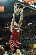 CLEVELAND, OH - MARCH 20: Chris Andersen #11 of the Miami Heat dunks during the first half against the Cleveland Cavaliers at Quicken Loans Arena on March 20, 2013 in Cleveland, Ohio. NOTE TO USER: User expressly acknowledges and agrees that, by downloading and or using this photograph, User is consenting to the terms and conditions of the Getty Images License Agreement. (Photo by Jason Miller/Getty Images)  *** Local Caption *** Chris Andersen