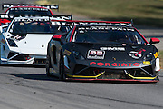 October 3-5, 2013. Lamborghini Super Trofeo - Virginia International Raceway. #33 Bruce Jenner/Brandon Jenner, GMG Racing, Lamborghini of Beverly Hills