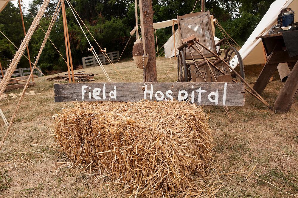 US Civil War Reenactment Field Hospital Display