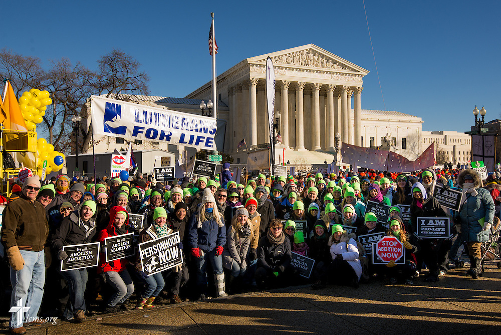A group photo of Lutherans joined from around the country Wednesday, Jan. 22, 2014, at the 41st March for Life in Washington, D.C. LCMS Communications/Erik M. Lunsford