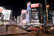 TREVOR HAGAN - A street scene in Shinjuku, an area of Tokyo.<br /> August 11, 2008