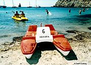 pedalo on the beach Ibiza 1999