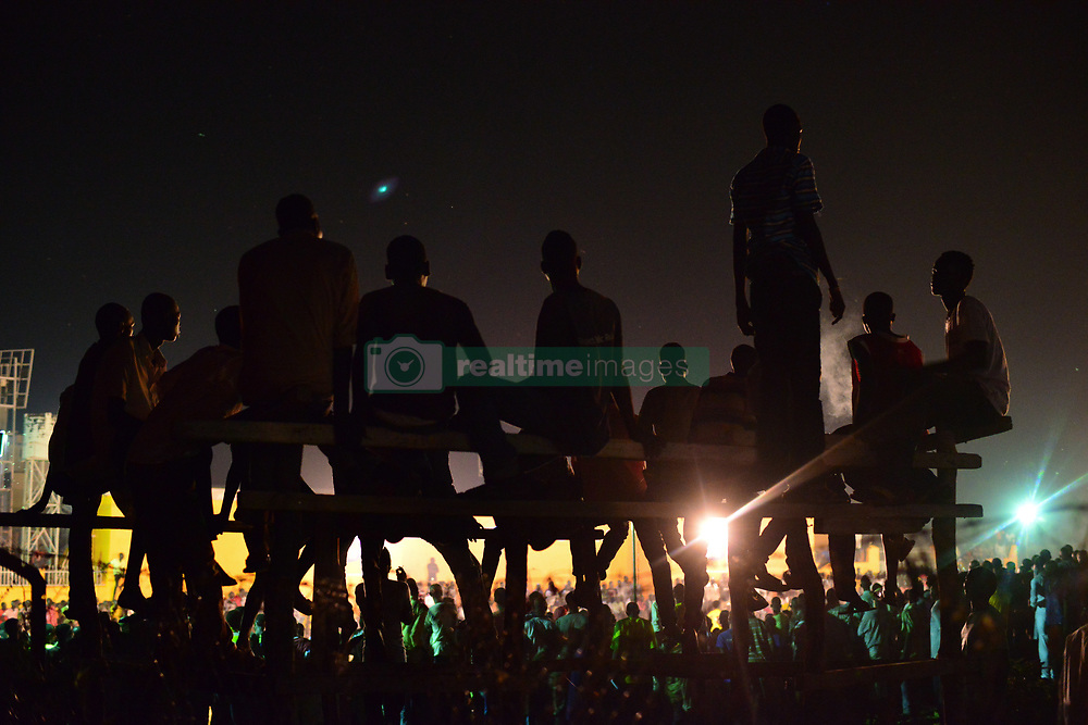 June 23, 2017 - Juba, Central Equatorial, South Sudan - In a rare moment of fun in Juba, capital of the war-ravaged nation of South Sudan, fans cheer as they watch the final match of the ''Ramadan League,'' between Team Airport and Team Commando. South Sudan has been consumed by civil war that has left roughly two-thirds of the nation on the edge of famine brought by fighting and corruption. (Credit Image: © Miguel Juarez Lugo via ZUMA Wire)