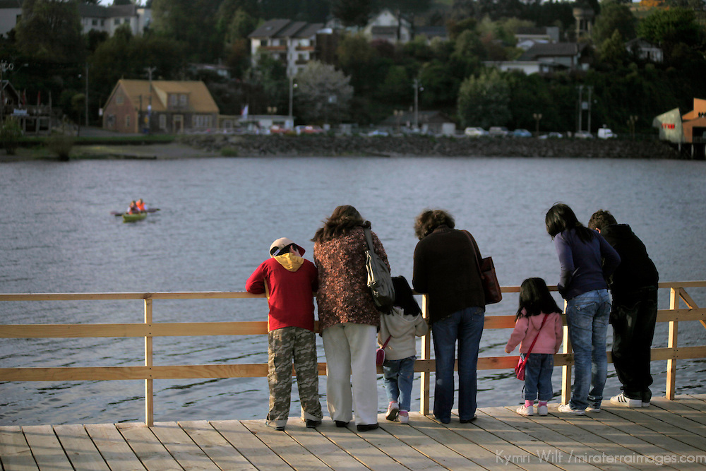 South America, Chile, Puerto Varas. Locals enjoying Llanquihue Lake in Puerto Varas.