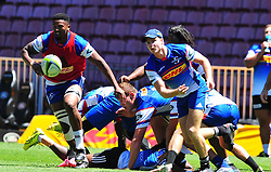 Cape Town 180215 Stomers player Skhumbuzo Notshe  practice for their Super 15  game  on saterday against Jaguares.  . Picture:Phando Jikelo/African News Agency(ANA)