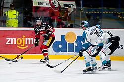 18.03.2016, Ice Rink, Znojmo, CZE, EBEL, HC Orli Znojmo vs EHC Liwest Black Wings Linz, Halbfinale, 3. Spiel, im Bild v.l. Roman Tomas (HC Orli Znojmo), Daniel Oberkofler (Linz), Mario Altmann (Linz) // during the Erste Bank Icehockey League 3rd semifinal match between HC Orli Znojmo and EHC Liwest Black Wings Linz at the Ice Rink in Znojmo, Czech Republic on 2016/03/18. EXPA Pictures © 2016, PhotoCredit: EXPA/ Rostislav Pfeffer