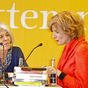 NLD/Amsterdam/20120310 - Feest der Letteren 2012 , Anne Enquist in gesprek met Mieke van der Weij