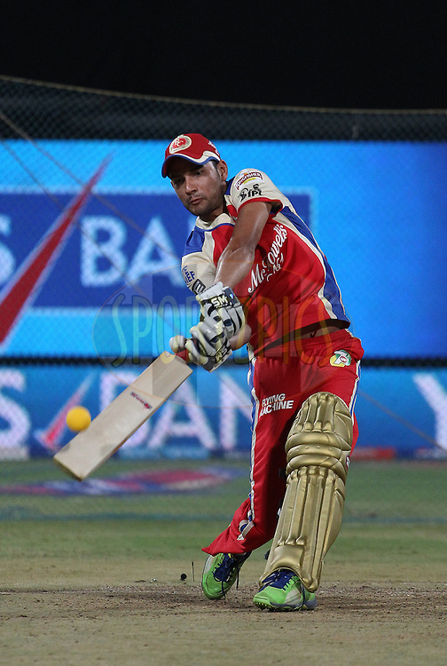 Sheldon Jackson in the Super Sixes competition during match 31 of the Pepsi Indian Premier League between The Royal Challengers Bangalore and The Pune Warriors India held at the M. Chinnaswamy Stadium, Bengaluru  on the 23rd April 2013..Photo by Ron Gaunt-IPL-SPORTZPICS ..Use of this image is subject to the terms and conditions as outlined by the BCCI. These terms can be found by following this link:..http://www.sportzpics.co.za/image/I0000SoRagM2cIEc