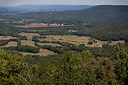 A green panorama is seen around Sewanee and Winchester, TN, USA.