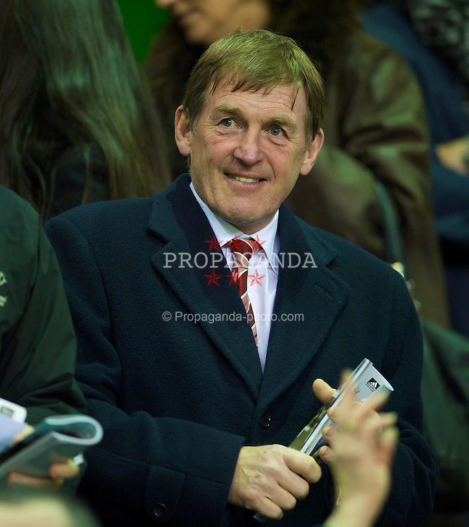 LIVERPOOL, ENGLAND - Thursday, March 18, 2010: Liverpool's Kenny Dalglish before the UEFA Europa League Round of 16 2nd Leg match against LOSC Lille Metropole at Anfield. (Photo by David Rawcliffe/Propaganda)