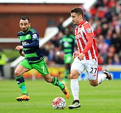 Bojan Krkic of Stoke City is chased by Leon Britton of Swansea City  - Mandatory by-line: Matt McNulty/JMP - 02/04/2016 - FOOTBALL - Britannia Stadium - Stoke-on-Trent, England - Stoke City v Swansea City - Barclays Premier League