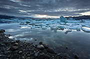 Jokulsarlon by night