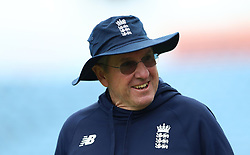England head coach Trevor Bayliss during a nets session at Headingley, Leeds. PRESS ASSOCIATION Photo. Picture date: Wednesday May 30, 2018. See PA story CRICKET England. Photo credit should read: Tim Goode/PA Wire. RESTRICTIONS: Editorial use only. No commercial use without prior written consent of the ECB. Still image use only. No moving images to emulate broadcast. No removing or obscuring of sponsor logos.