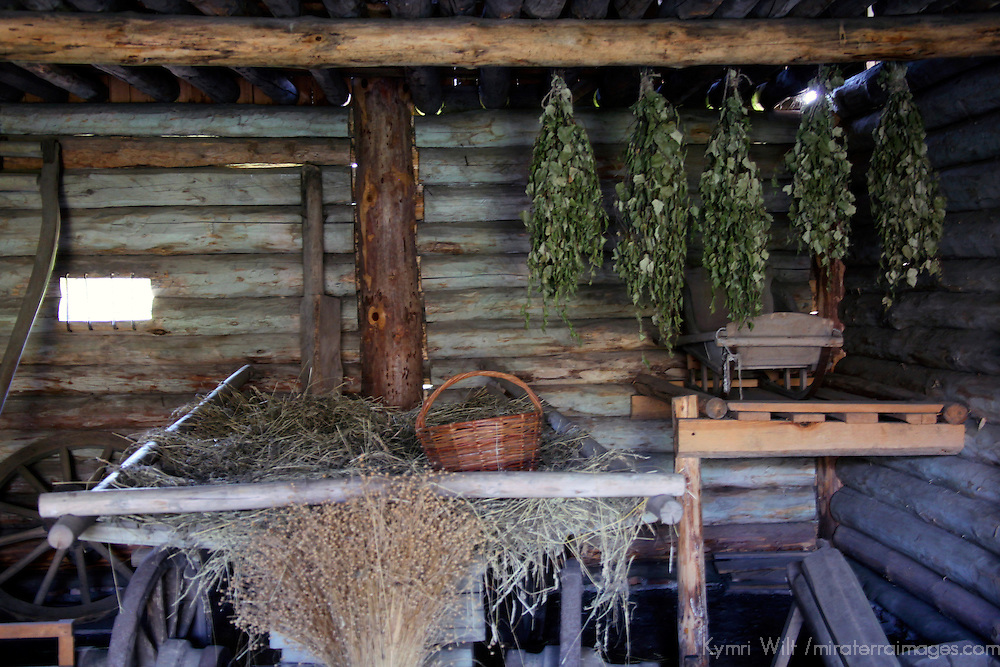 Europe, Russia, Suzdal. Museum of Wooden Architecture and Peasant Life home.