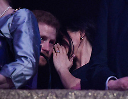 Prince Harry and Meghan Markle at the Royal Albert Hall in London for a star-studded concert to celebrate the Queen's 92nd birthday.